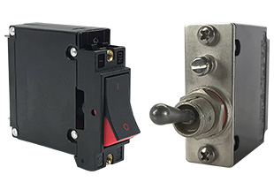 A-Series sealed toggle and visi-rocker style circuit breaker