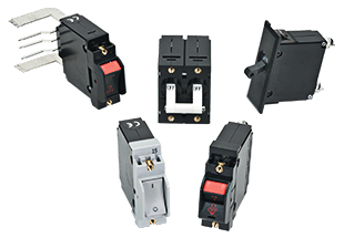 A-Series 1-6 poles circuit breakers, various handle and termination styles