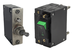 C-Series breaker; this up to 100 amp breaker offers 1 to 3 poles for sealed metal toggle and rocker actuator configurations.