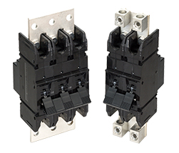 F-Series high current breakers with bus bar for parallel pole configurations; current ratings from 100-700 amps for UL 489A.