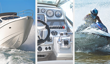 Marine switches and circuit protection for yachts, cabin cruisers, ski boats, pontoons, fishing boats, sail boats and more.