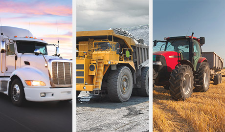 Carling's on/off-highway switching products are ideal for these types of commercial vehicles.