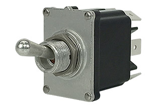ST-Series waterproof toggle switches are available in 2/3 positions and 24 or 12 volts.