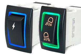 Carling HR-Series Illuminated Halo Sealed Rocker Switch
